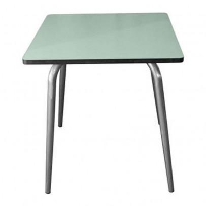 Les Gambettes Table Vera 70x70 cm pieds bruts - Vert menthe-listing