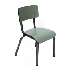 Les Gambettes Little Suzie children's chair with natural legs - Khaki green-listing