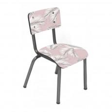 Les Gambettes Chaise enfant Little Suzie pieds bruts - Imprimé Palme-listing