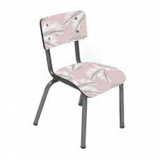 Les Gambettes Little Suzie children's chair with natural legs - Printed Palm Leaves-listing