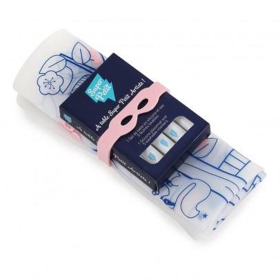 Superpetit Tischset zum Ausmalen mit 5 Filzstiften und Armband Zauberbaum - rosafarben-listing