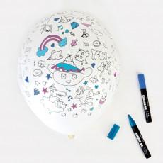 Omy Palloncini da colorare - 5 pezzi-listing