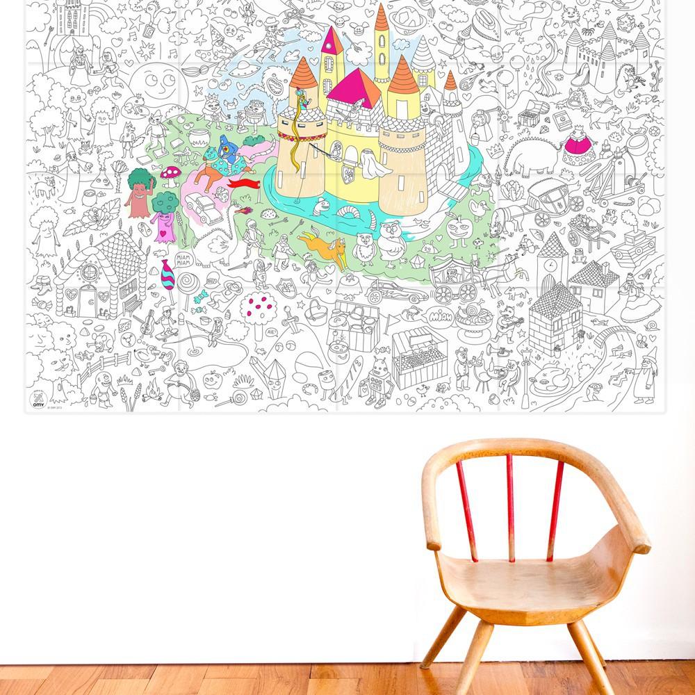Omy Poster à colorier Géant Magic-product