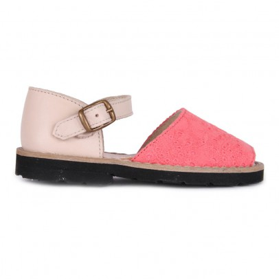 Minorquines Frailera Buckled Embroidered Canvas Sandals-listing