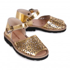 Minorquines Frailera Notched Leather Buckled Sandals-listing