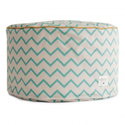 Nobodinoz Tombouctou pouf with zig zag patterns-listing