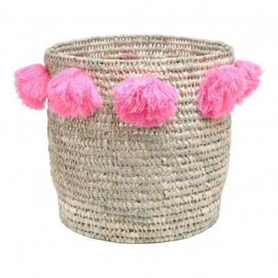 Rose in April Louis pompom basket D34 cm-listing