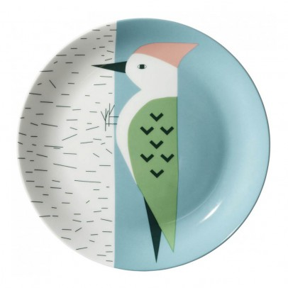 Donna Wilson Green woodpecker ceramic plate-product