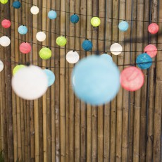 La case de cousin Paul Outdoor Luminous Garland 24 Blue Lagoon Balls -listing