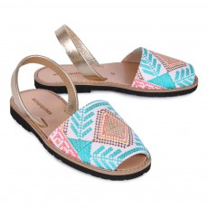 Minorquines Avarca Embroidered Canvas Sandals-listing