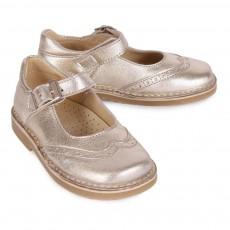 Diggers Babies-Schuhe Glitzer mit Blumenspitze Maryjane -listing