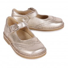 Diggers Maryjane Perforated Toe Iridescent Leather Baby Shoes-listing