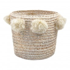 product-Rose in April Pompom Louis Basket D34cm