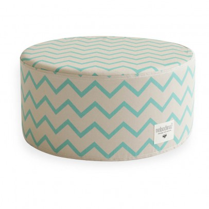 Nobodinoz Soho pouf with zig zag patterns-listing