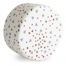 Nobodinoz Soho pouf with blue and red triangles-listing