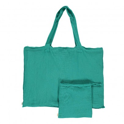 Numero 74 Cotton shopping bag and envelope - Turquoise Blue -product