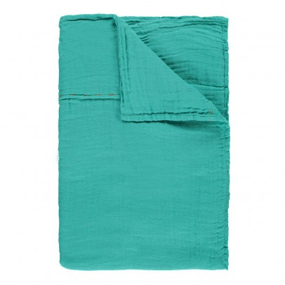 Numero 74 Flat sheet or curtain pinch - Turquoise Blue-product