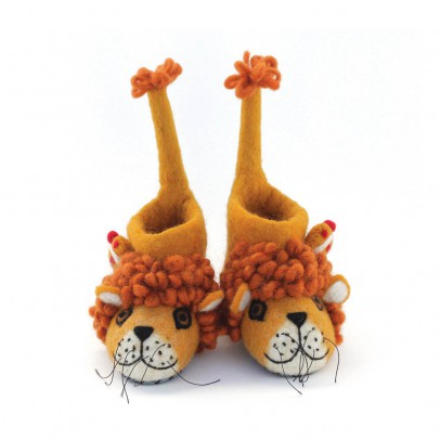 Sew heart felt Felted wool lion slippers -listing