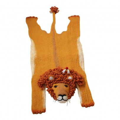Sew heart felt Felted wool lion carpet-listing
