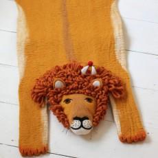 Sew heart felt Alfombra de fieltro de lana Lion-listing