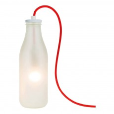 product-Raumgestalt Lampada bottiglia di latte in vetro con cavo