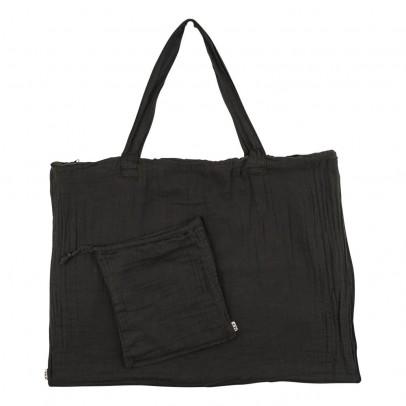 Numero 74 Einkaufstasche aus Baumwolle mit Säckchen - anthrazitgrau-listing
