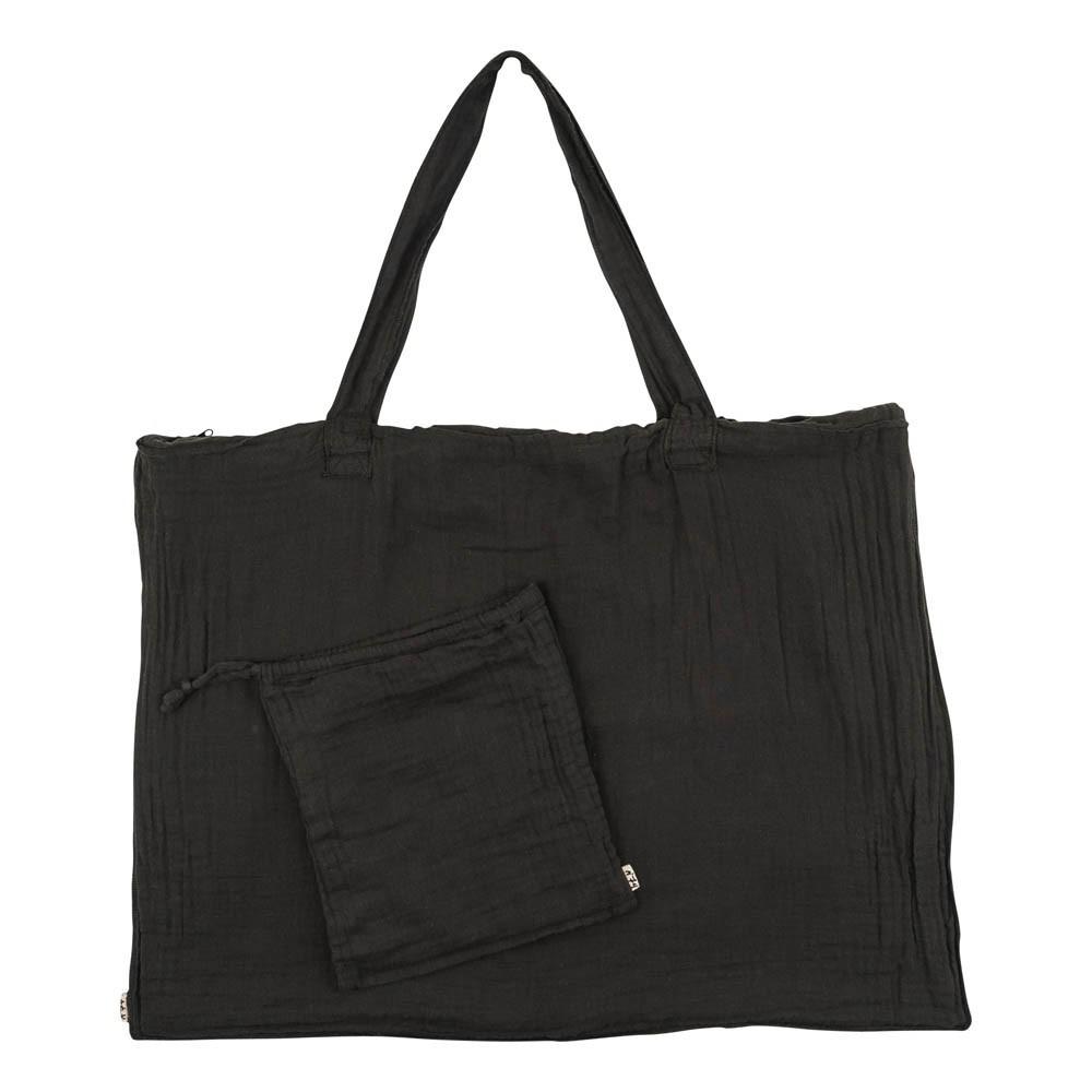 Einkaufstasche aus Baumwolle mit Säckchen - anthrazitgrau-product