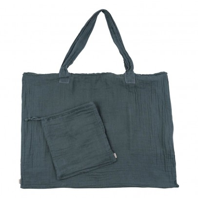 Numero 74 Bolso de algodón y funda - Azul grisáceo-product