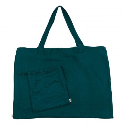 Numero 74 Cotton shopping bag and envelope - Petrol Blue-listing
