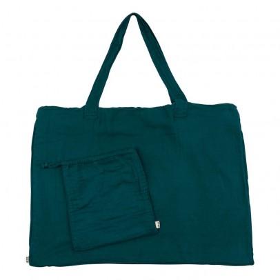 Numero 74 Einkaufstasche aus Baumwolle mit Säckchen - petrol-product