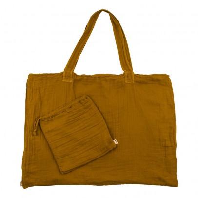 Numero 74 Einkaufstasche aus Baumwolle mit Säckchen - senfgelb-product