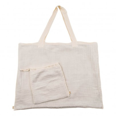 Numero 74 Einkaufstasche aus Baumwolle mit Säckchen - naturfarben-listing