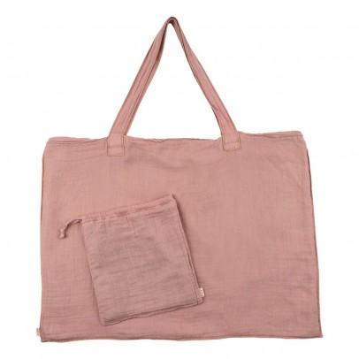 Numero 74 Sac cabas en coton et pochette - Vieux rose-product