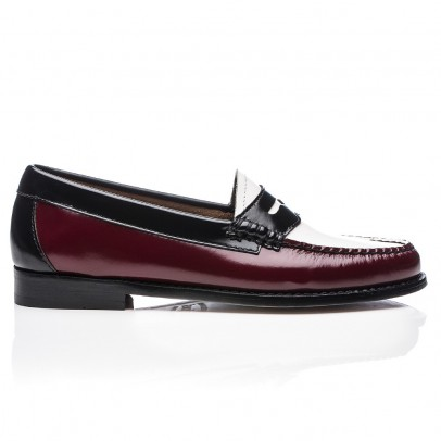 Bass Three-coloured Leather Penny Loafers-listing