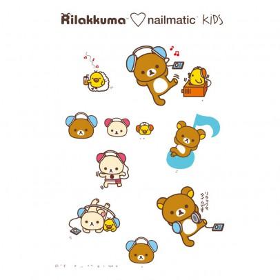 Nailmatic Planche de 8 tatouages éphémères Rila Music Rilakkuma x Nailmatic-listing