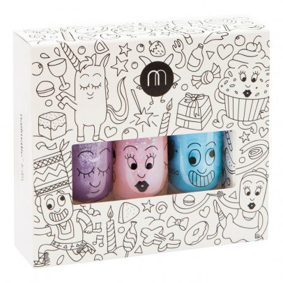 Nailmatic Kids Pack 3 esmaltes de uñas Party Piglou, Polly y Gaston -listing
