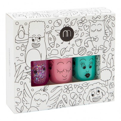 Nailmatic Kids Pack 3 esmaltes de uñas Jungle Sheepy, Cookie y Rio	-listing