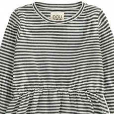 Douuod Striped Cuculo Frill Blouse-listing