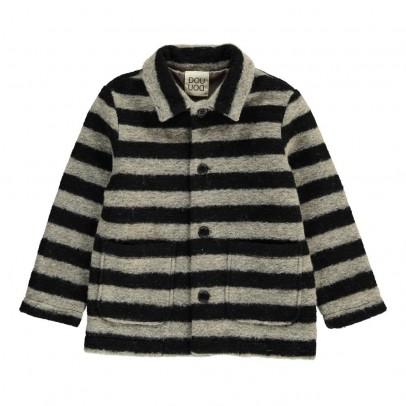 Douuod Striped Marabu Coat-listing