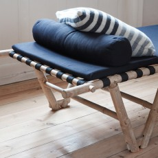 Hübsch Bamboo bench/spare bed-listing