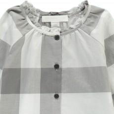 Burberry Tartan Button-Up Marelle Blouse-listing