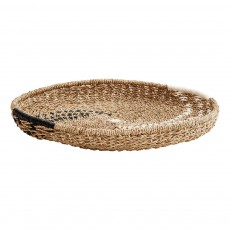 product-Madam Stoltz Woven Tray with black and white motifs