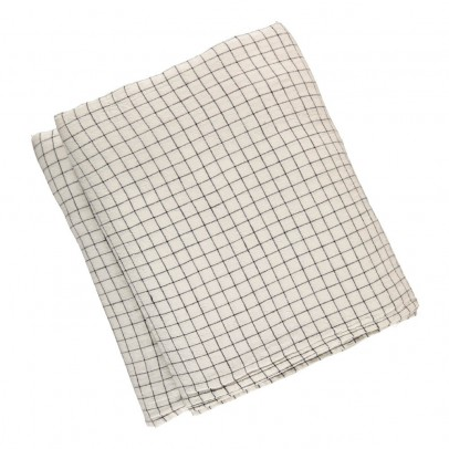 Linge Particulier Black/White Checked Washed Linen Duvet Cover-listing