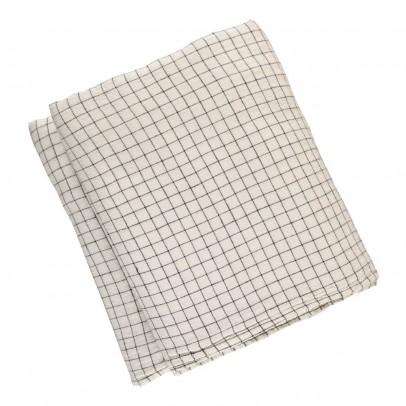 Linge Particulier Funda de edredón lino lavado Cuadros Blanco-Negro-product