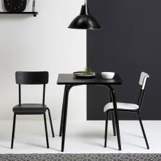 Les Gambettes Chaise adulte Suzie - Noir/pieds noirs-listing