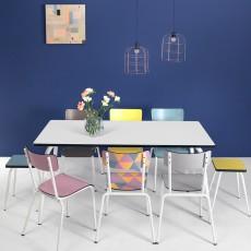 Les Gambettes Suzie adult chair - Geometric Print-listing