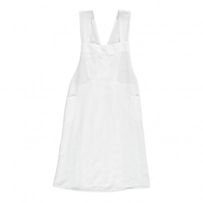 Linge Particulier Adult Cross back Washed Linen Japanese Apron Dress-product