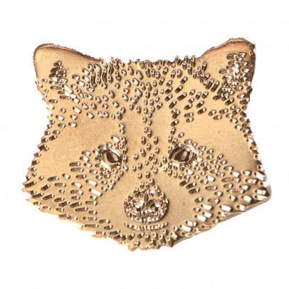 Titlee Gold-Plated Brass Rupert Raccoon Brooch-listing