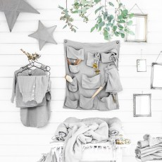 Numero 74 Bolsillos mural de almacenamiento - Rosa envejecido-listing