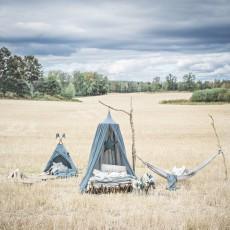 Numero 74 Tenda in cotone - Blu grigio-listing